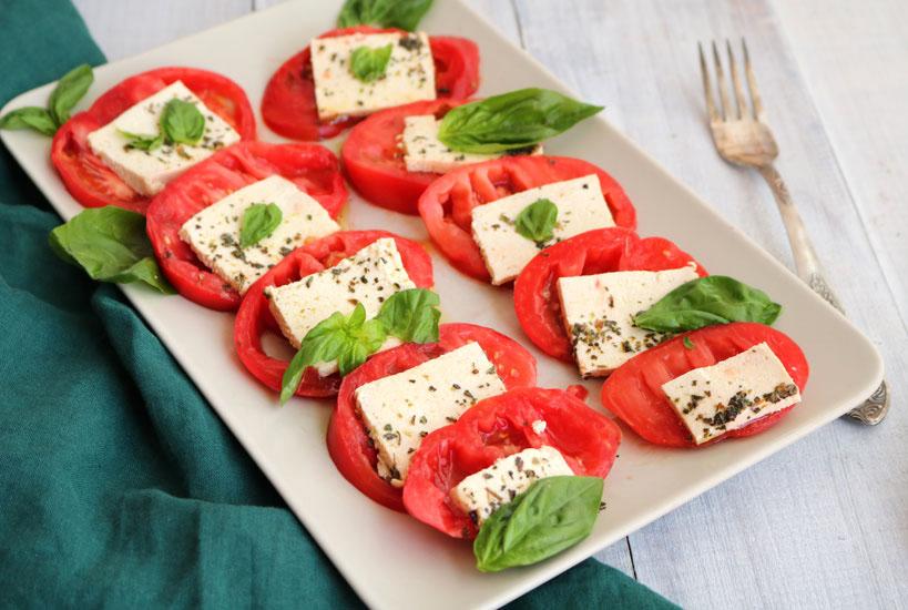 Vegan Caprese Salad with Tofu   Tofobo Family