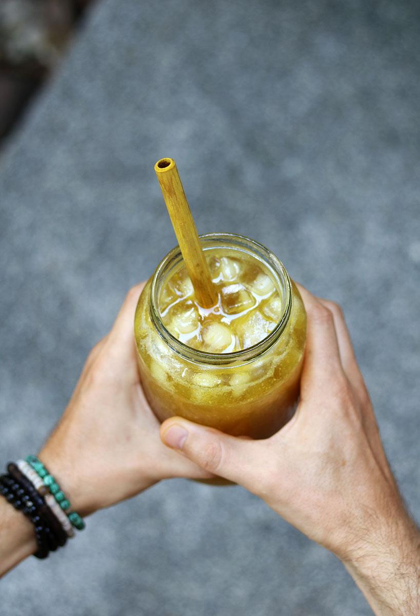 Healthy & Refreshing Iced Turmeric Ginger Lemonade | Tofobo Family