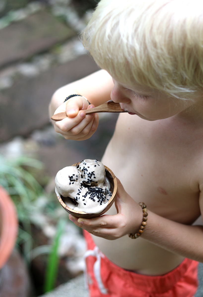 Creamy Vegan Coconut Banana Ice Cream (Dairy-Free, Sugar-Free)