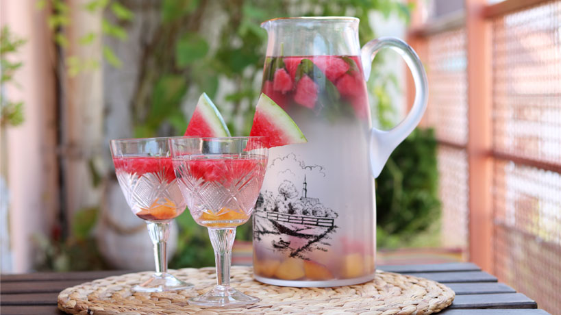 Watermelon-Nectarine Infused Water   Tofobo Family