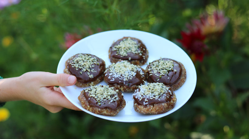 Kid-Friendly Raw Vegan Chocolate Cookies (Gluten-Free, Sugar-Free) | Tofobo Family